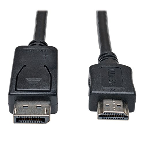 (TRIPP Lite DisplayPort to HDMI Cable Adapter, DP to HDMI (M/M), DP2HDMI, 1080P, 10 ft. (P582-010))