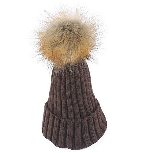 WGFGQX Sombrero De Punto Caliente De Las Señoras Al Aire Libre, Sombrero del Pompom,#1 #9