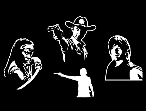 Rick Michonne Daryl (The Walking Dead Inspired) Decal Multipack -