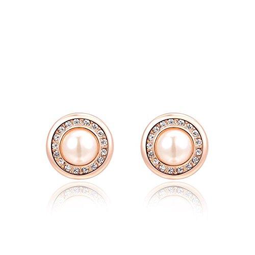 9k Rose Earrings - 8