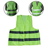 Togethluer Riding Night Running Outdoor Sports Reflective Vest,Security Safety High Visibility Reflective Vest Traffic Warehouse Waistcoat