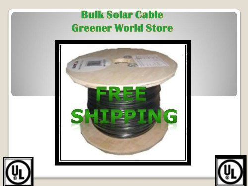 Solar Cable 100 Feet Bulk U.S.A. Made Solar Cable 10 AWG 600 Volt Ul Listed Greener World Store