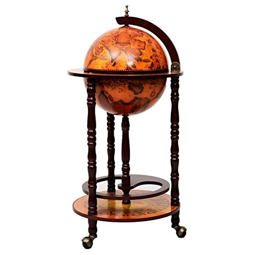 Globe Bar Liquor Cabinet Sixteenth-century Italian Replica Old World