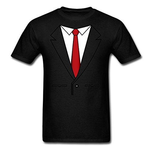 Spreadshirt Fake Business Suit Red Tie Men's T-Shirt, 6XL, Black by Spreadshirt