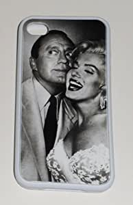 MARILYN MONROE & Jack Benny iPHONE 4 4S WHITE RUBBER PROTECTIVE CASE