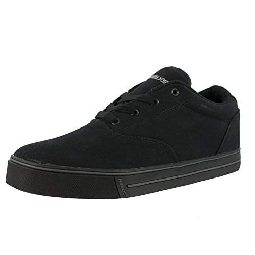 Heelys Launch-K Skate Shoe Black Canvas,6 M US Big - Girls Black Shoes Heely