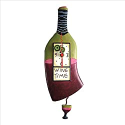 Allen Designs Wine Time Pendulum Clock