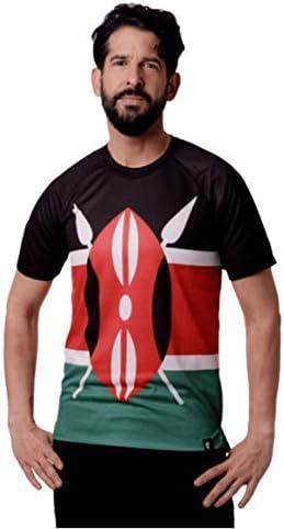 HOOPOE Camiseta Atletismo Kenia Hombre, Manga Corta, Running ...