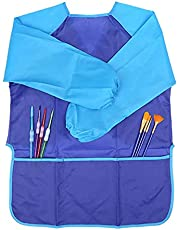 Kids Art Smock, Waterproof Children Art Aprons Artist Painting Drawing Coat Apron with Long Sleeve and Pocket, for 7-11 Years