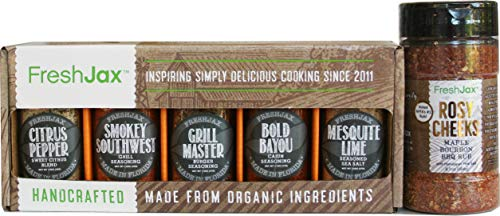 FreshJax Gourmet Grilling Spices Kit Bundle, Rosy Cheeks Barbecue Seasoning and Grill Lovers Gift Sampler (5 pack)