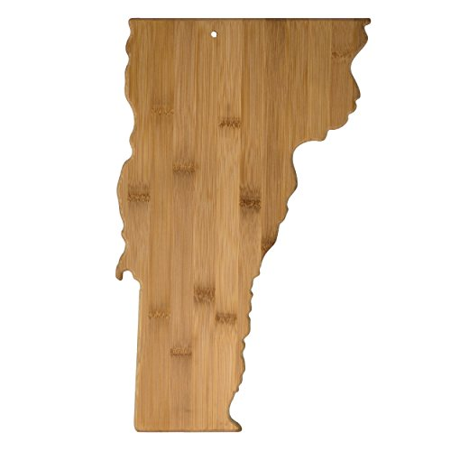 Totally Bamboo Vermont State Shaped Bamboo Serving and Cutting Board