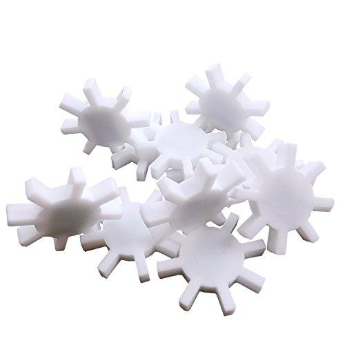 Magnetic Stirrer Stir Bar PTFE Magnetic Mixer Stir Bars( Olive shape;Cylinder shape;With ring shape; Cross shape; Gear shape;Ball shape; Recycling rods) (7X40mm, Gear shape, 3) 3x40mm Rod