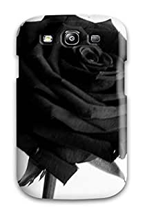 Tpu Case Cover Compatible For Galaxy S3/ Hot Case/ Black Rose 5490522K66750729