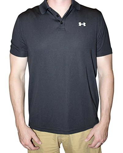 Under Armour Men UA Golf Performance Logo Polo T-Shirt (M, Black)