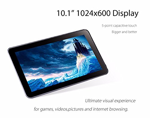 Hipo 10.1 Inch Tablet Octa Core Android 5.1 Tablet PC 1GB RAM /16GB ROM 1024X600 TN Screen Wifi HDMI Bluetooth 4.0 Dual Camera Micro USB by Hipo (Image #2)