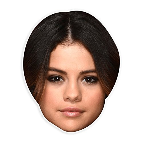 Unwelcome Greetings Bored Selena Gomez Mask - Perfect for Halloween, Masquerade, Parties, Events, Festivals, Concerts - Jumbo Size -