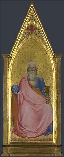 The High Quality Polyster Canvas Of Oil Painting 'Giovanni Da Milano Christ Of The Apocalypse Central Pinnacle Panel ' ,size: 16 X 39 Inch / 41 X 99 Cm ,this ()