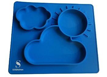 SiliDishes Silicone Sunshine Placemat Tray (Blue)