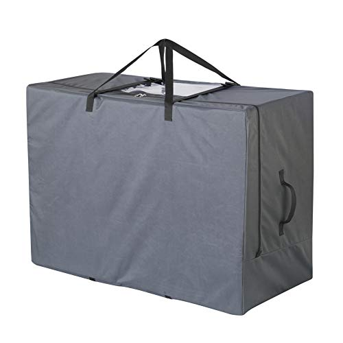 Cuddly Nest Folding Mattress Storage Bag Heavy Duty Carry Case for Tri-Fold Guest Bed Mattress (Grey, Fits Up to 6 inches Queen Mattress)