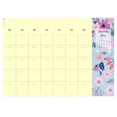"2019 Desk Calendar, Floral Desktop Monthly Planner Pad, 60 Month 8.3"" x 11.7"", Eyes-protected Color"