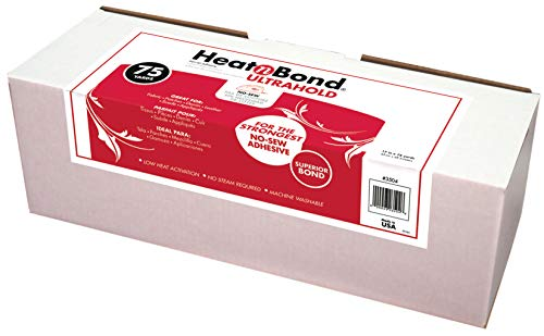 (HeatnBond UltraHold Iron-On Adhesive, 17 Inches x 75 Yard Roll in Display Box)