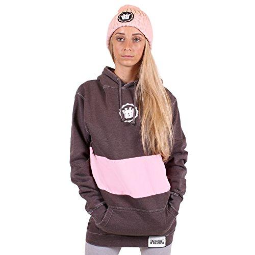 UOW - Sudadera con capucha - para mujer Anthrazit Rosa