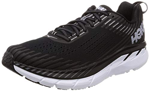 HOKA ONE ONE Men's Clifton 5 Running Shoe Black/White Size 9 M US