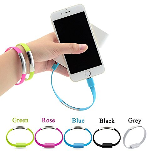 Type-C Bracelet Charging Cable Braided Wrist Band USB Charger 4/pack Bracelet Wristband Usb