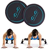 iQinQi Exercise Glider Discs, Exercise Core Sliders for Working Out, Dual Sided Sliding Discs Use on Hardwood Floors, Workout