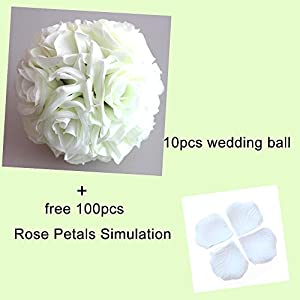 SiFree Wedding Flowers Rose Balls,5.9'' Artificial Flower Silk Ball for Bridal Wedding Bouquets Home Garden Party Decoration 40