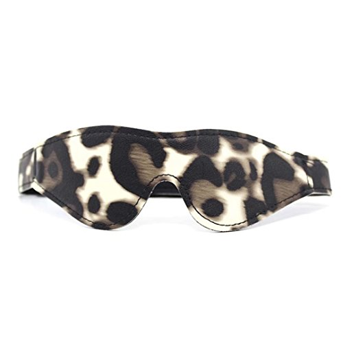 Briviee Leopard Blindfold Mask Eye Mask for Halloween Stage Props Kit for]()