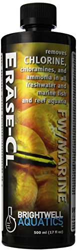 Brightwell Aquatics ABAERA500 Erase-Cl Liquid Salt Water Conditioners for Aquarium, 17-Ounce (Cl Cotton)