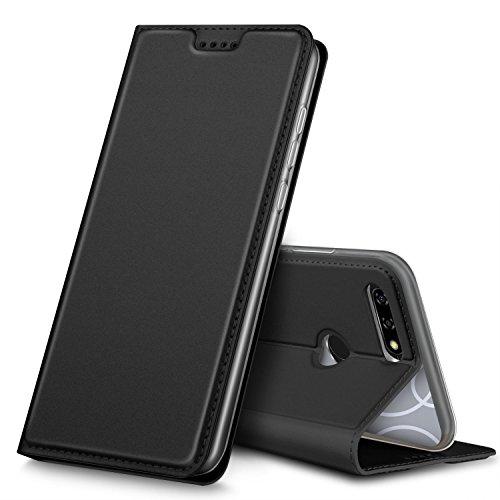 BLU VIVO X case, KuGi BLU VIVO X case, Ultra-Thin DD Style PU Cover + TPU Back Stand Case for BLU VIVO X Smartphone(Black)