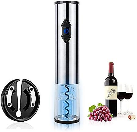 Nasjac Abridor de Vino Eléctrico, Removedor Automático de Sacacorchos de Vino, Abridor de Vino Tinto Creativo, Regalo para Mujeres y Hombres, Aparato de Cocina, Removedor de Sellos de Vino