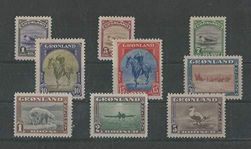 Greenland, Postage Stamp, 10-18 VF Mint LH, 1945 Animals, JFZ (Stamp Greenland)