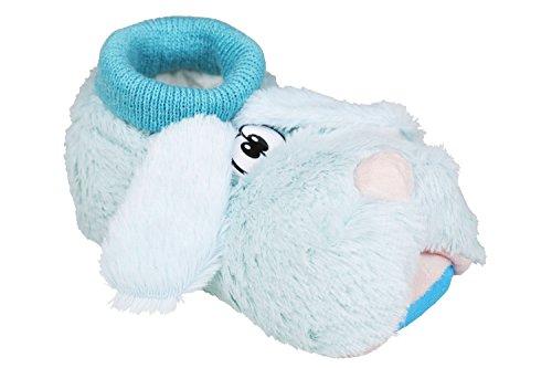 Unbekannt - Zapatillas de estar por casa de tela para niño Azul - azul claro