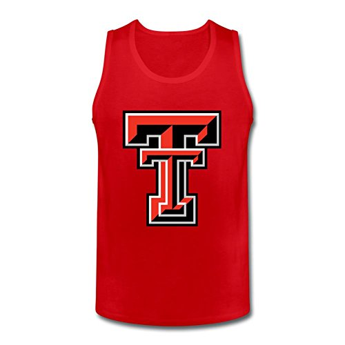 NYCQL Men's American College Football Team Big Texas Tech Red Raiders Logo Vest Tank Tops