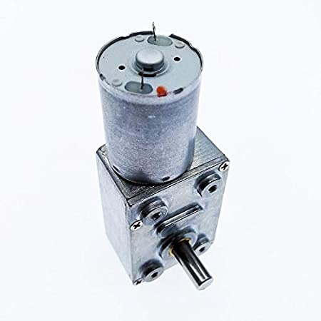 Couleur : 1rpm, Taille : 24V F-MINGNIAN-TOOL 1pc ZGY370 DC12V R/éduction du Moteur Worm Turbo Motor/éducteur 12V DC 1RPM 2rpm-100rpm 200rpm /électrique Transmission R/éducteur
