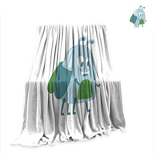 Betterull Custom Design Cozy Flannel Blanket Funny Cute Cartoon Funny Midge Colorful Character Vector Illustration 90