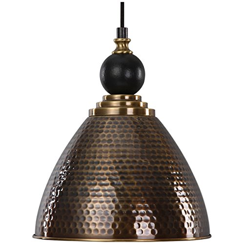 Hammered Brass Pendant Light in US - 5