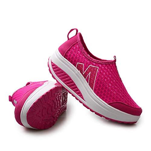 Piattaforma Casual Mesh Donna Abcone Traspirante Sneakers Air Rosa In Zeppe Pantofole Elegante Scarpe Caldo A Da Mocassini Piedi Stivali xZZzwRqY