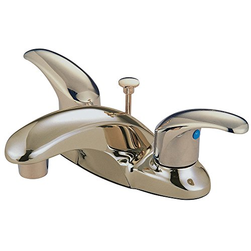 Elements of Design Daytona EB6628LL Centerset Lavatory Faucet with Retail Pop-Up, 4-Inch, Satin Nickel ()