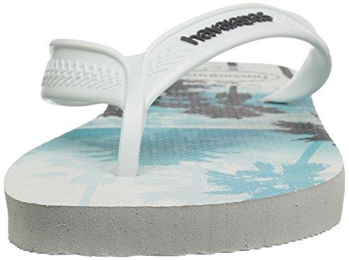 Havaianas Heren Surf Sandaal Wit / Zwart Wit / Wit / Zwart