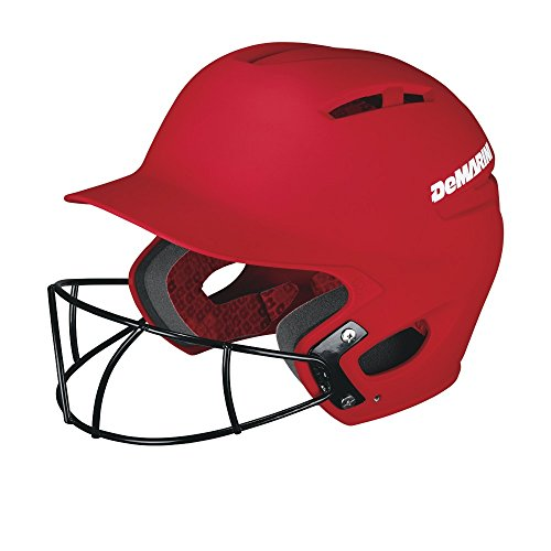 - DeMarini Paradox Batting Helmet with Softball Protective Mask, Scarlet, Large/X-Large