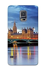 Top Quality Rugged United Kingdom Rivers Bridges Houses Sky London Big Ben Cities Case Cover For Galaxy S5