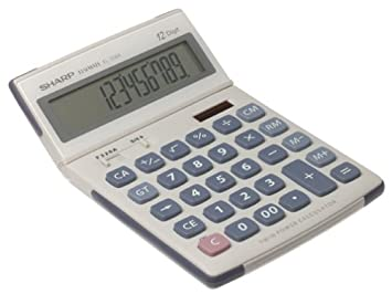 Sharp EL-338AB 12 Digit Semi Desk-Top Display Calculator