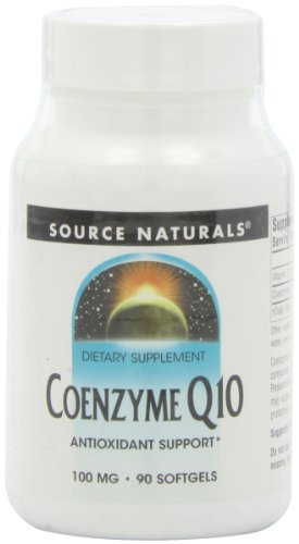 Source Naturals Coenzyme Q10, 100 mg, 90 gélules