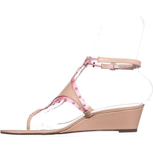 Nina Womens vevilla Open Toe Casual Platform Sandals Nude Nappa/Pink L3StKud4