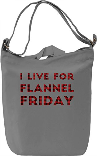 Flannel Is My Happy Texture Borsa Giornaliera Canvas Canvas Day Bag| 100% Premium Cotton Canvas| DTG Printing|