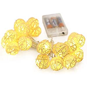 LED Lantern Home Decoration Christmas Ornaments Solar Light Strings Thai Rattan Ball Lights Battery Lights